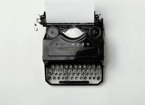 Schreibmaschine - Musterbrief schreiben