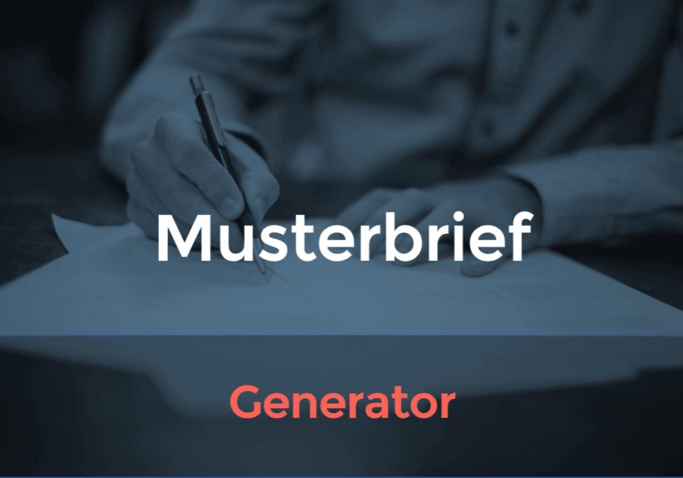 Musterbrief-Generator